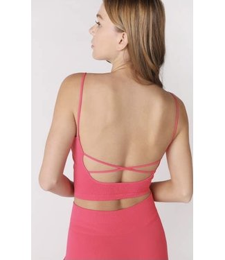 #wearfnf Low Back Crop Top - HOT PINK