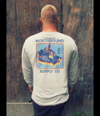 Northbound Supply Co. Retro Canada L/S - GREY