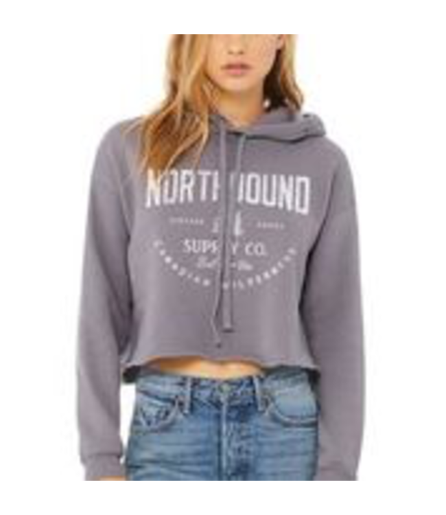 Northbound Supply Co. Canadian Wilderness Crop Hoodie - GREY