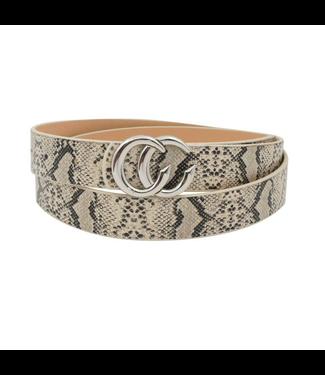 #wearfnf CC Snake Belt - BEIGE