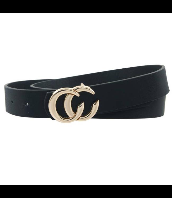 #wearfnf Double CC Belt - BLACK