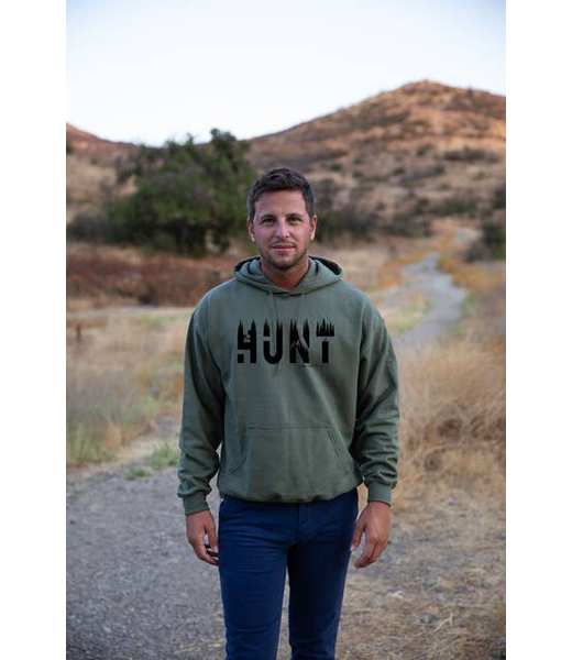 Hunt Life Hoodie - FOREST GREEN