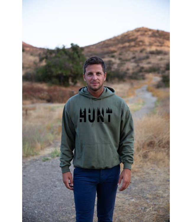 Live Life Clothing Co. Hunt Life Hoodie - FOREST GREEN
