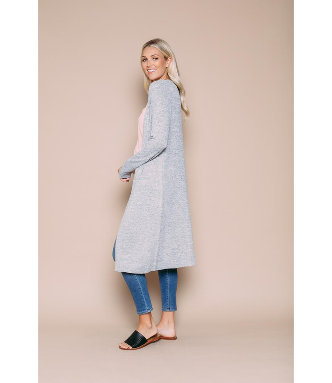 Orb ABIGAIL Luxe Jersey Summer Duster - GREY MARLE