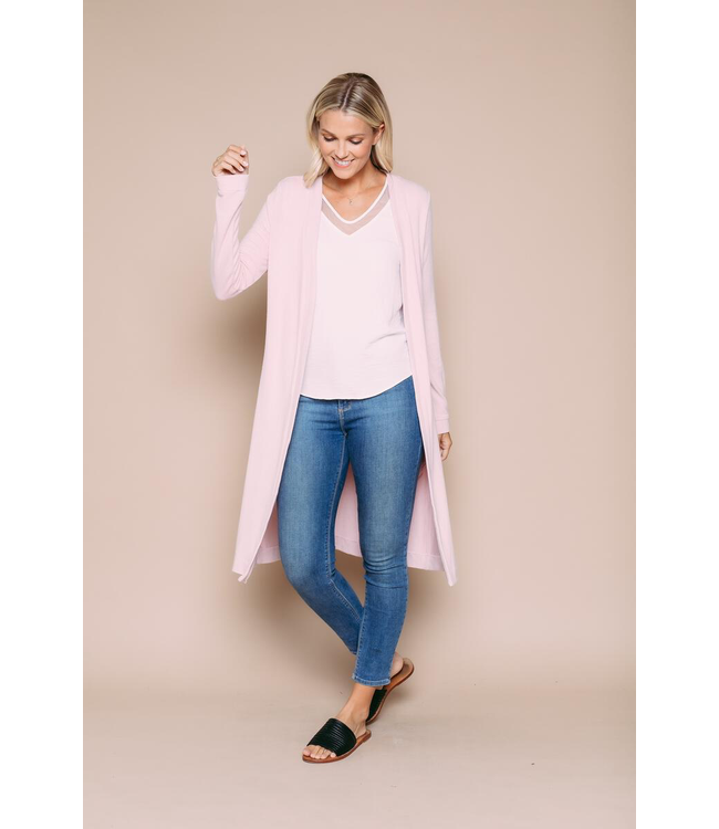 Orb ABIGAIL Luxe Jersey Summer Duster - SOFT PINK