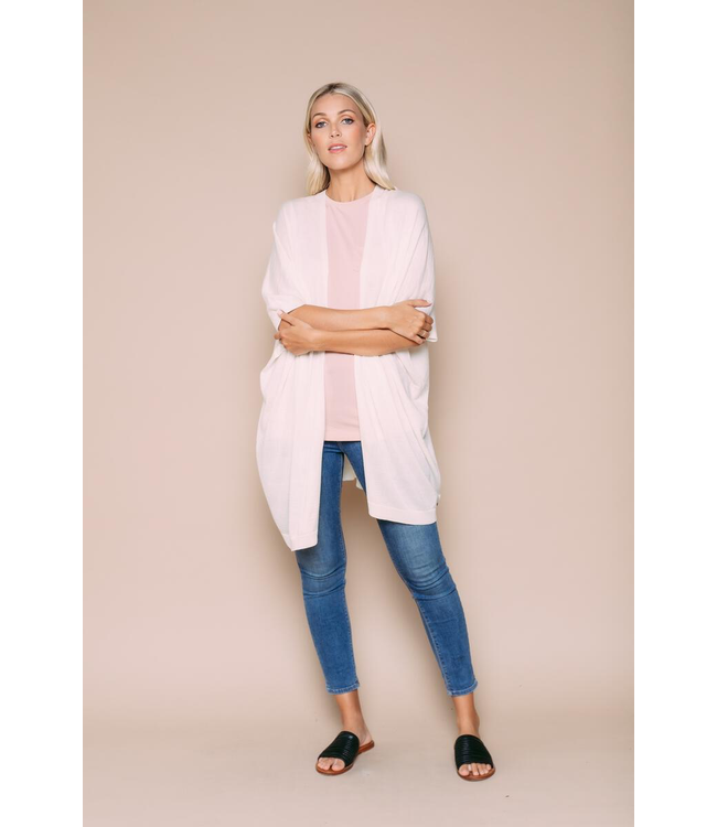 Orb ELEANORE - Tissue Knit Kimono Cardigan - CREAM