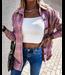 #wearfnf Retro Plaid Shacket - PINK
