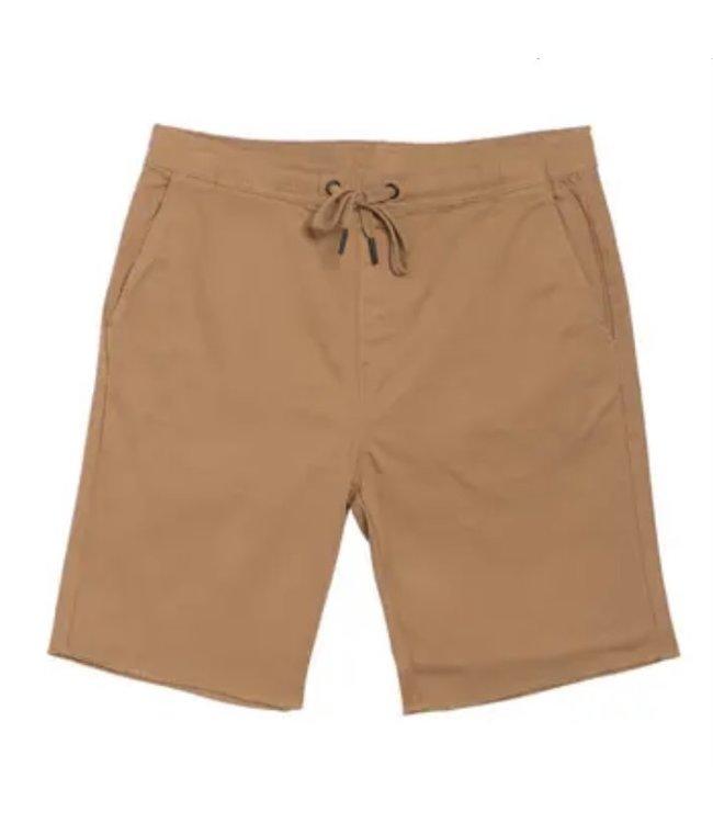 HEDGE Woven Shorts - DARK TAN