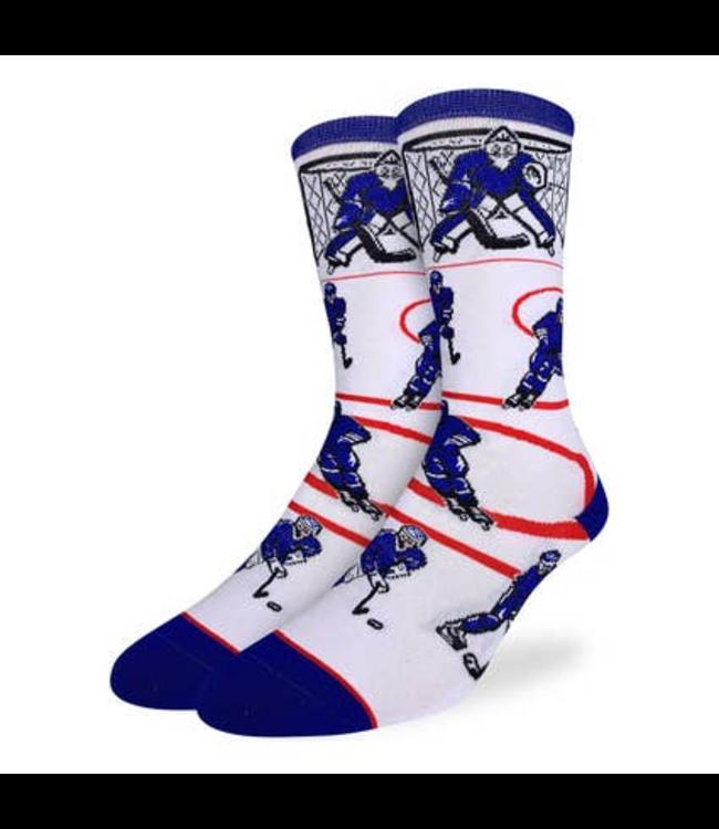 Good Luck Sock Hockey, Blue & White Socks