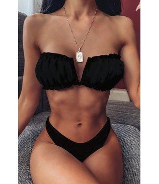 #wearfnf SENTA Strapless Bikini - BLACK