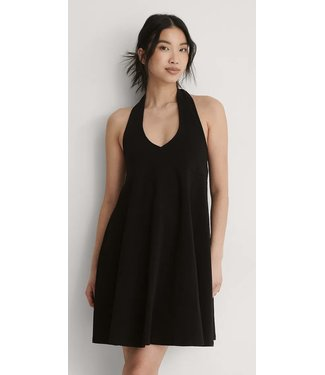 NA-KD Halter Jersey Dress - BLACK