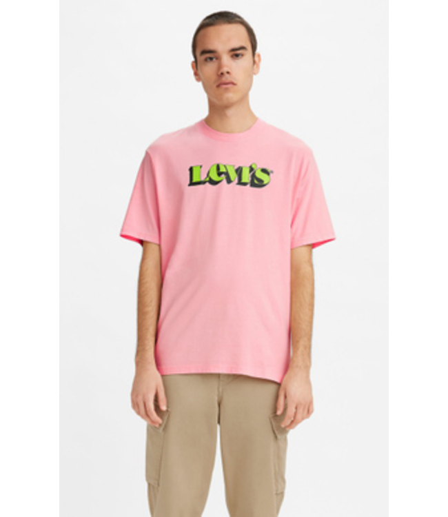 Levi's Relaxed Fit Tee - POWDER PINK GRAPHIC