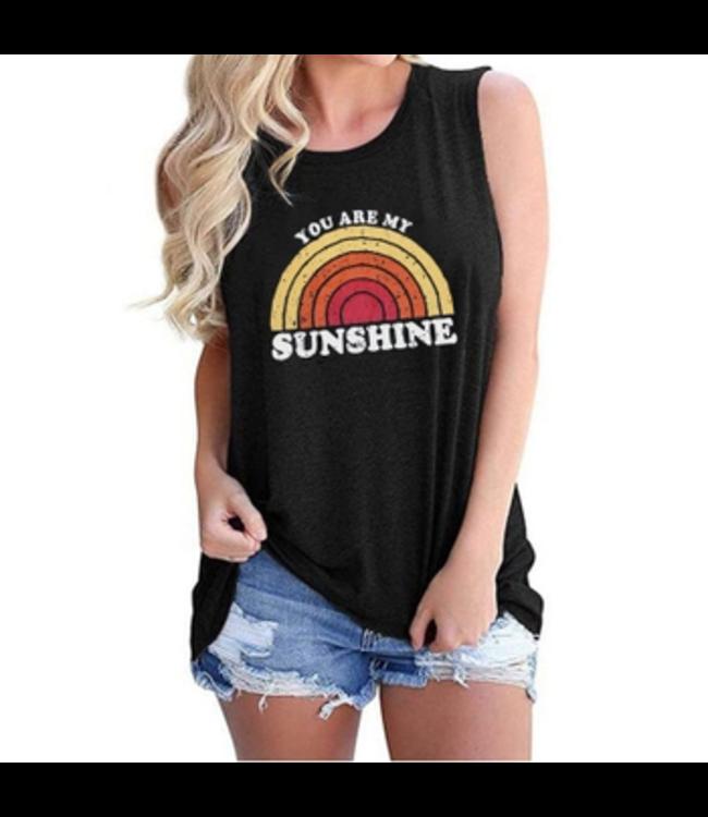 #wearfnf Sunshine Rainbow Tank Top - BLACK