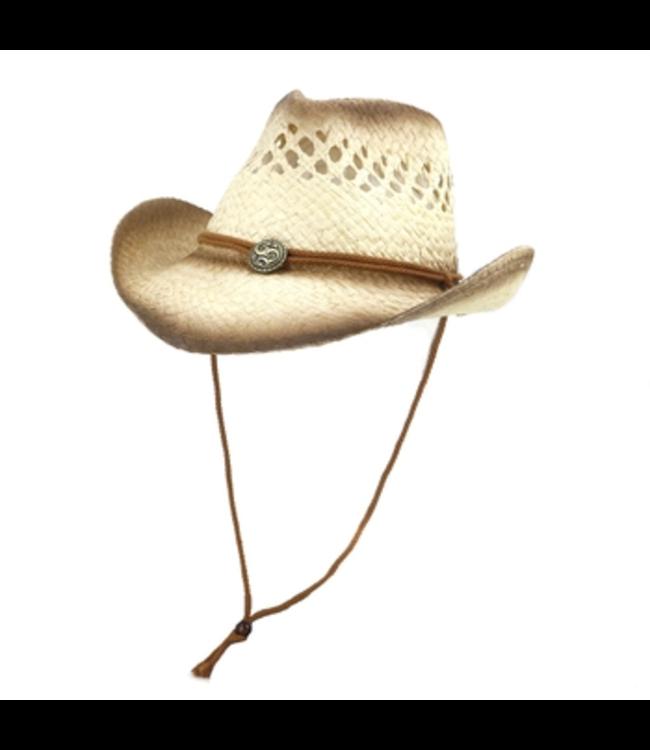 #wearfnf Cowboy Straw Hat - BROWN