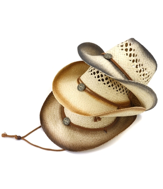 #wearfnf Cowboy Straw Hat - BLACK