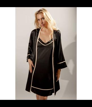 #wearfnf Dreamcatcher Nightgown & Robe Set - BLACK