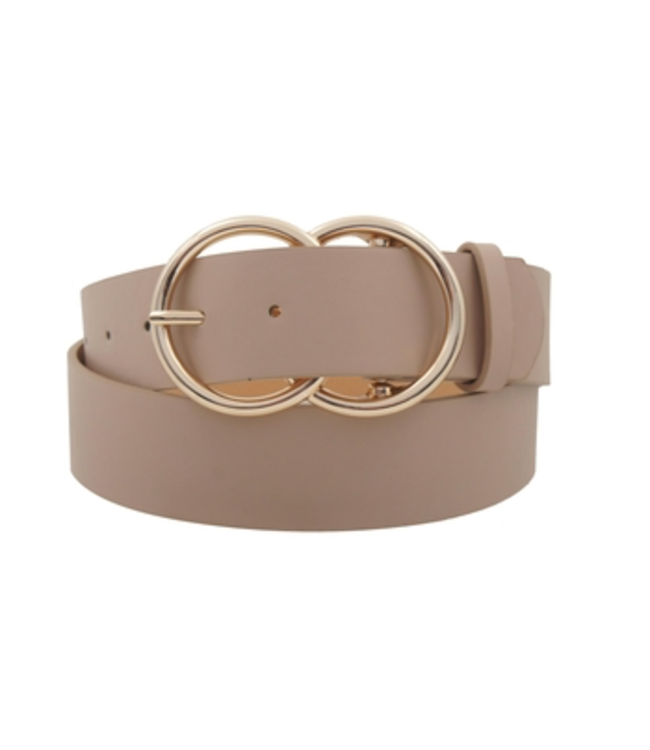 #wearfnf Double Ring Belt - TAUPE