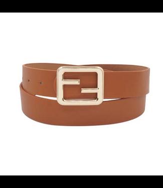 #wearfnf FF Belt Buckle - COGNAC