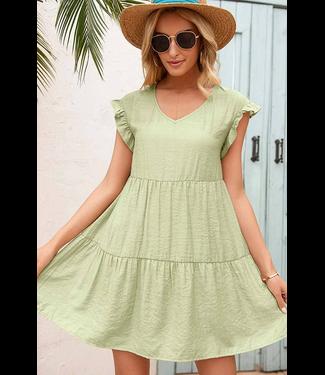 #wearfnf Sunshine Ruffle Babydoll Dress - MINT