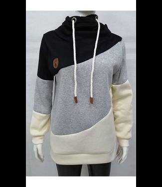 #wearfnf Heap Collared Pullover Sweatshirt - BLACK
