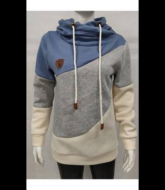 #wearfnf Heap Collared Pullover Sweatshirt - BLUE