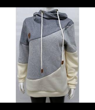 #wearfnf Heap Collared Pullover Sweatshirt - GREY