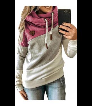 #wearfnf Heap Collared Pullover Sweatshirt - RUST