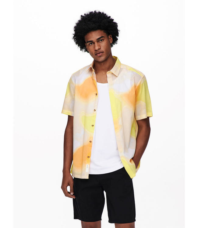 Only & Sons KIAN Relaxed Button Up - PAPAYA