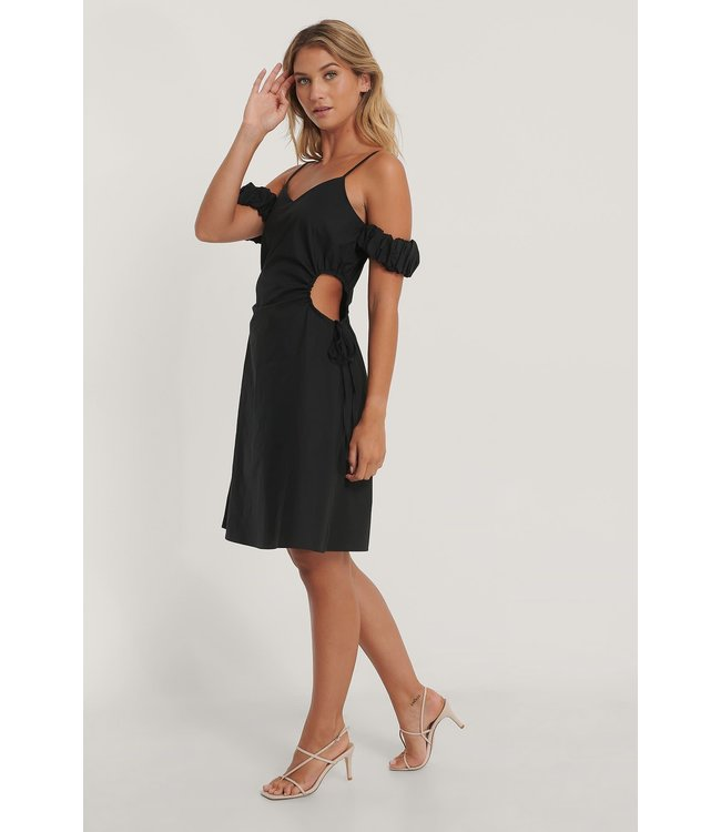 NA-KD Cut Out Mini Dress - BLACK