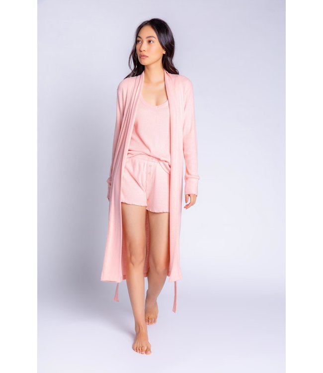P.J. Salvage Textured Essentials Solid Robe - DUSTY ROSE