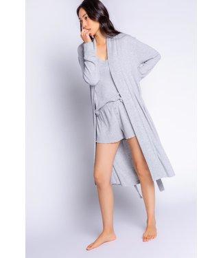 P.J. Salvage Textured Essentials Solid Robe - HEATHER GREY