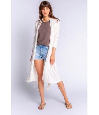 P.J. Salvage Textured Essentials Solid Robe - STONE