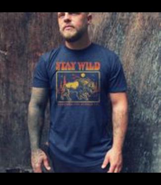 Northbound Supply Co. Stay Wild T-Shirt - NAVY
