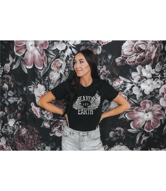 #wearfnf Heaven and Earth T-shirt - BLACK
