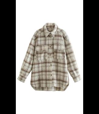 #wearfnf Classic Plaid L/S Oversized Jacket - COFFE MULTI