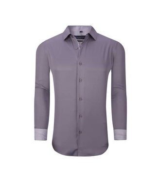 #wearfnf Solid Long Sleeve Button Down Shirt - SILVER