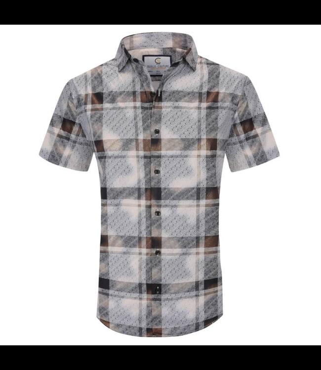 #wearfnf Short Sleeve Button Down Shirt - WHITE-11