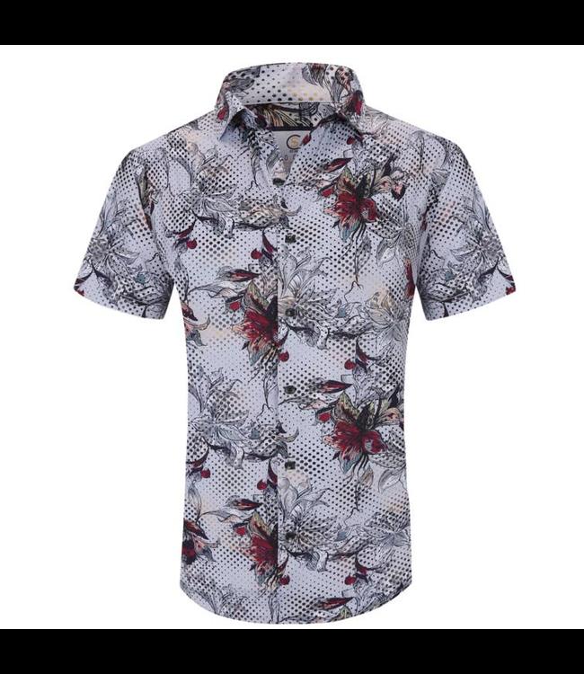 #wearfnf Short Sleeve Button Down Shirt - WHITE-5