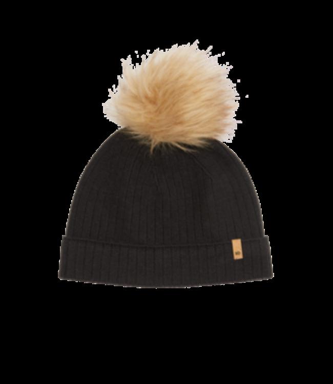 Ten Tree Wool Faux Fur Pom Beanie -