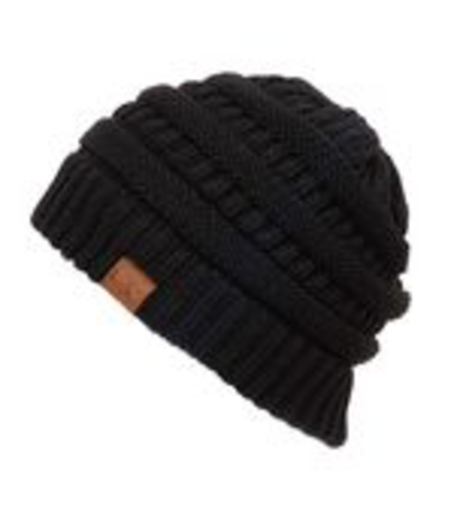 C.C. Cheveux Corp. Beanies Knitted Beanie Hat -