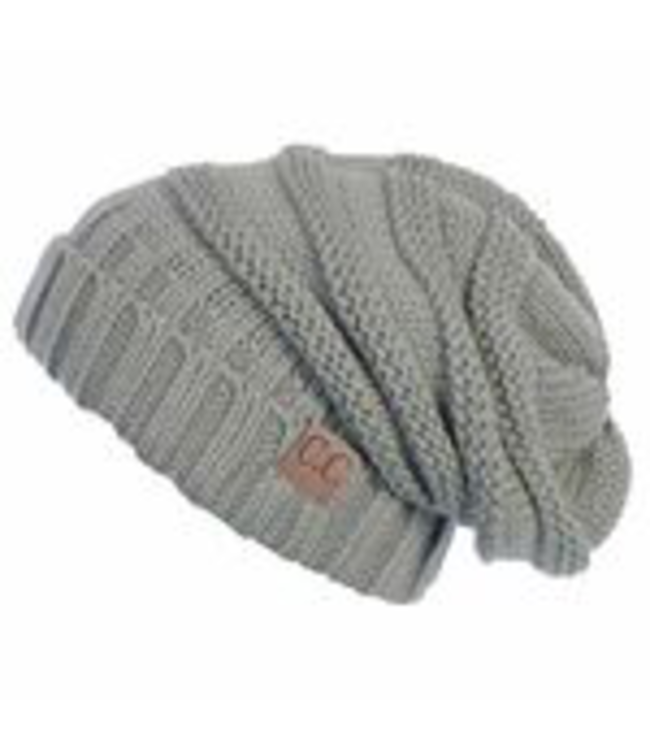 C.C. Cheveux Corp. Beanies Knitted Slouch Beanie -