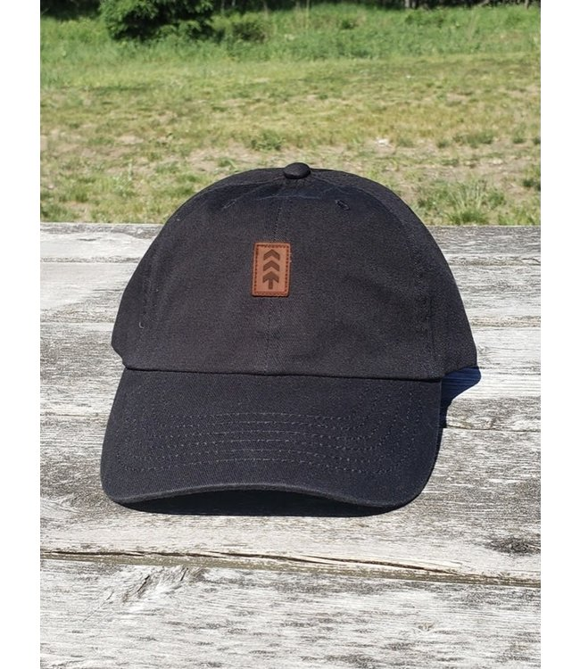 Northbound Supply Co. Leather Patch Logo - DAD HAT - BLACK