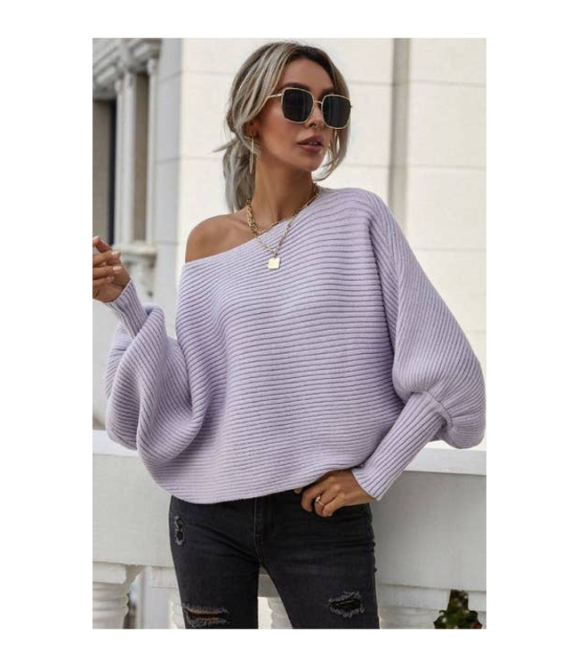 #wearfnf Cozy Bateau Neck Sweater -