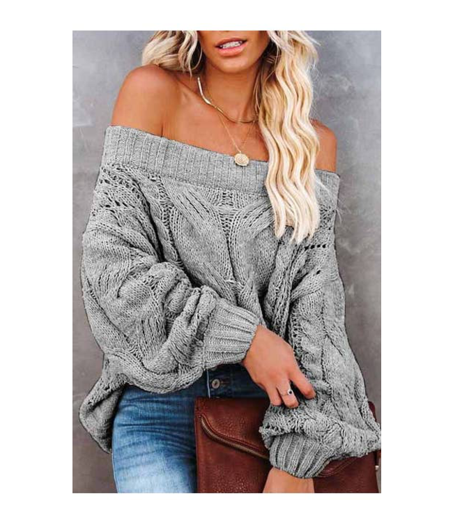 #wearfnf Chic Off The Shoulder Sweater -