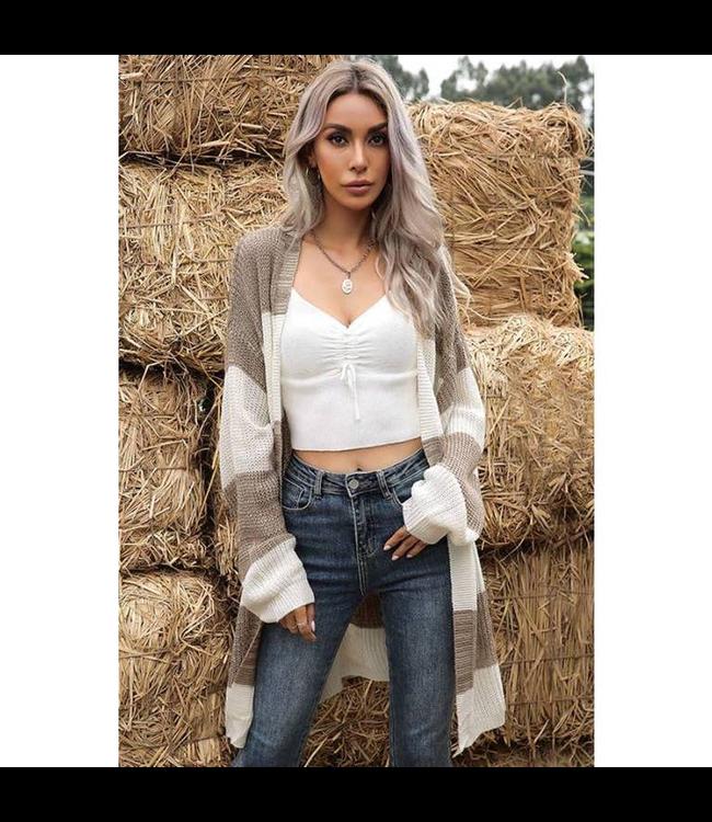 #wearfnf Balloon Sleeve Sweater - WHITE MULTI