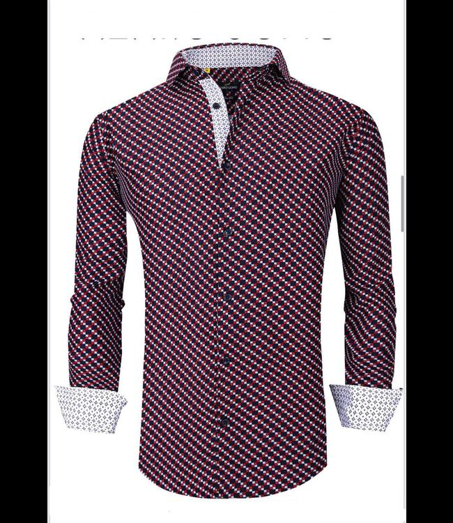 #wearfnf Sport Shirt L/S - 6 NAVY -