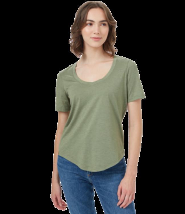 Ten Tree Treeblend V-Neck T-Shirt - LICHEN GREEN HEATHER