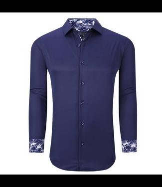 #wearfnf Solid  Button Down Shirt - NAVY