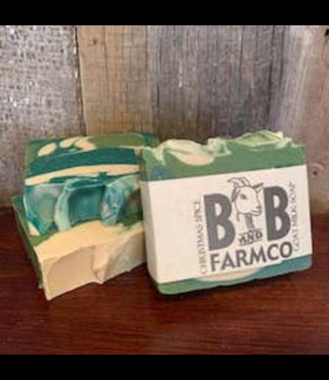 B and B Farm Co. Christmas Spice Goat Milk Soap
