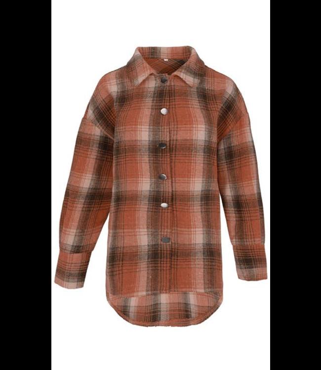 #wearfnf Brushed Casual Woven Shirt - BRUSHED FIRE